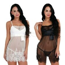 Plus Size Womens Laides Sexy Lace Lingerie Underwear Babydoll Nightwear G-string