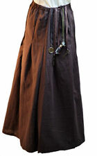 Steampunk-Victorian-Scifi-Cosplay-LARP- BROWN COTTON SKIRT-Fancy Dress Costume