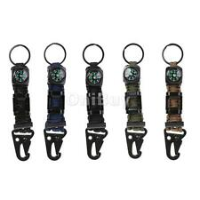4FT Paracord Survival Keychain Compass Kits Bottle Opener, Flint, Fire Starter