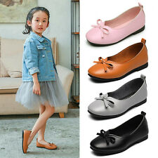 Children's Kids Loafers Soft Sole Bowknot Casual Slip On Princess Ballet Shoes