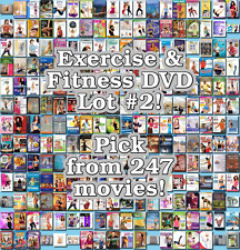 Exercise & Fitness DVD Lot #2: 247 Movies to Pick From! Buy Multiple And Save!