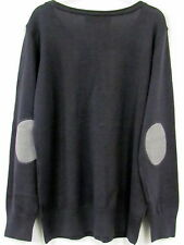 Ladies Long Sleeve Fine Knit Jumper Crew neck dark grey anthracite size large