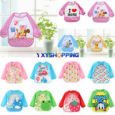 Baby Toddler Boy Girl Waterproof Long Sleeve Bib Apron Waterproof Feeding Smock