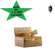 OCB Slim Gold oro sets of 1 à 400 booklets leaves rolling big/ large size
