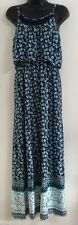 NEW Ex BHS Blue Multi Floral Print Summer Holiday Maxi Dress Size Size 8-20