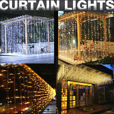 304 LED Indoor Outdoor Christmas New Year String Fairy Wedding Curtain Lights