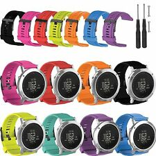 Silicone Watch Band Wrist Strap Wristband for SUUNTO Core Brushed Steel Watch