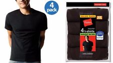Hanes Men's Crew Neck T-shirts 4-pack Sizes M-3X All Black or All Gray M-XXL