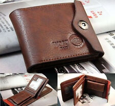Fashion Mens Leather Bifold ID Cards Holder Coin Pocket Bag Slim Purse Wallet