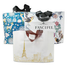 Stylish Plastic Shopping Bags with Handle Boutique Clothes Gift Packaging Bag