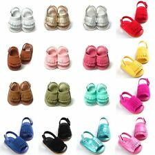 Kids Baby PU Leather Sandals Soft Sole Summer Newborn Boy Girl Crib Shoes 0-18M