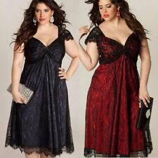 Oversized Women Plus Size Evening Party Formal Prom Gown Cocktail Wedding Dress