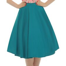 Lindy Bop Peggy Sue Teal Full Circle Skirt 50s Vintage Rockabilly PinUp 12 - 18