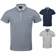 New St Marks Mens Cotton Polo T Shirt Short Sleeve Pique Collared Button Tee Top
