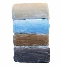 MINK BLANKET SUPER THICK & HEAVY  QUEEN & KING SIZE WARM SOFT WASHABLE