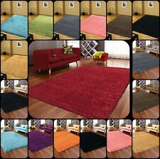 SHAGGY RUG XLARGE SMALL  NON SHED HIGH PILE MAT SIZE MODERN THICK PLAIN SOFT NEW