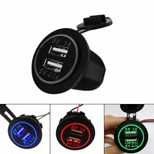 12V-24V Cigarette Lighter Socket Splitter 2 Port USB Car Charger Adaptor LOT F7