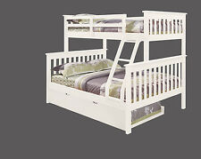 TWIN OVER TWIN BUNK BED W/ TRUNDLE AND/OR TENT OPTION - WHITE