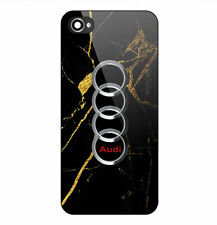 Best New Audi Logo Gold Marble Print Hard Plastic Case For iPhone 5s 6 6s 7 Plus