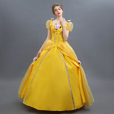 Adult Deluxe Fairytale Beauty and The Beast Princess Belle Enchanting Costumes