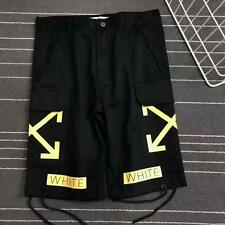 2017 NEW Fashion OFF WHITE Unisex Men's Summer Causal Pants Shorts Jeans