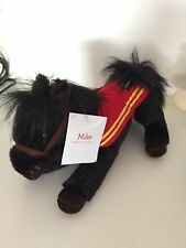 2016 Wells Fargo MIKE Black Plush Legendary Horse Pony Stuffed Animal With Tag