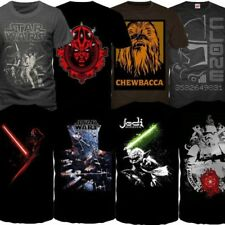 Star Wars Mens Short Sleeved Crew Neck T Shirts New Jedi Sith Crew Neck Top Tees