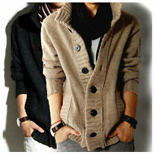 Men's knitted Slim Fit Casual Jumper Cardigan Long Sleeve Clothing Coat Tops ao