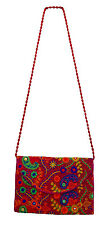 Indian Handbag Traditional Embroidered Pink handmade Girl Ladies clutch purse