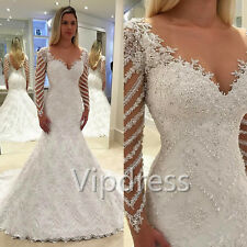 2017 Long Sleeve Sweetheart Wedding Dresses Lace Applique Beads Bridal Gowns Hot
