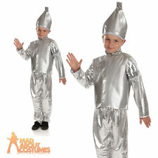 Child Tin Man Costume Boys Wizard of Oz Book Week Day Fancy Dress Outfit New