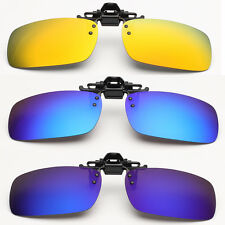 Fashion New Driving Polarized Mirrored UV400 Clip-on Flip-up Sunglasses Glasses