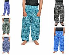 Womens Baggy Harem Pants Floral Hippie Wide Leg Gypsy Yoga Long Palazzo Trousers