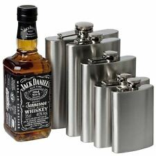1 4 5 6 7 8 10 18oz Hip Flask Stainless Steel Pocket Drink Whisky Vodka Flasks
