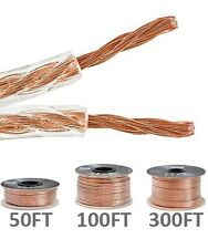 50ft 100ft 300ft 14AWG 2-Conductor Car Home Audio Loud Speaker Wire Cable CCA