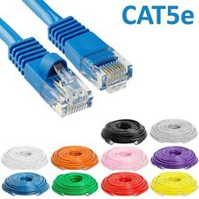1ft to 100ft CAT5e RJ45 Patch Cable Cord Ethernet LAN Network Internet 24AWG CCA