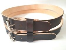 "HEAVY DUTY REAL LEATHER 1.1/2""W WORK BELT MENS WOMENS WITH HEAVY  ROLLER BUCKLE"