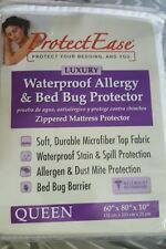 New ProtectEase Luxury Zippered Mattress Protector Cover Queen