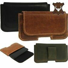 RICARDSSON GENUINE LEATHER BELT LOOP HOLSTER POUCH CASE COVER FOR MOBILE PHONES