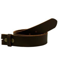Buckle Rage  Distressed Leather Belt Strap    brown snap on variable