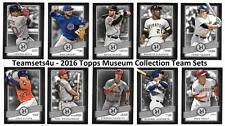 2016 Topps Museum Collection Baseball Set ** Pick Your Team **