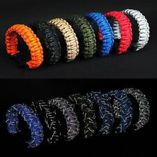 Outdoor Paracord Survival SOS Bracelet with Whistle Reflective Rope Gear Kits