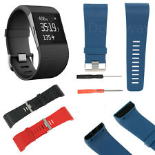 Replacement Watch Band Strap w/Buckle + Tool for Fitbit Surge Tracker Wristband