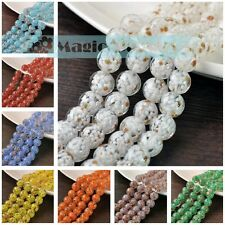 10/30/50pcs 12mm Lampwork Glass Crystal Jewelry Finding Loose Spacer Round Beads