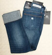 NWT ROCK & REPUBLIC Cropped Capri Slim Jeans OFF THE CHAIN Kendall Distressed 6