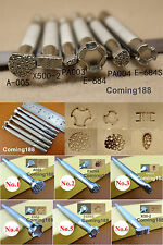 4types Leather Craft Stamping Stamp Punch Tool Master Leather Stamper   NEW