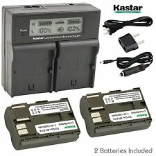 BP-511 Battery&Dual Fast Charger for Canon PowerShot G1 G2 G3 G5 G6, Pro1,Pro 90