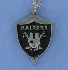 Oakland Raiders Necklace - Pewter Charm on Chain NFL Football Logo NEW