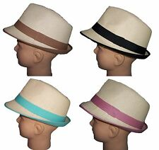 Fedora Trilby Hats 4 Color Bands Choose Women Hats (FedHat85**)