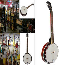 5/6 STRING RESONATOR BANJO BEGINNER GUITER PLAY FOR PARTS/REPAIR LUCKY PENNY